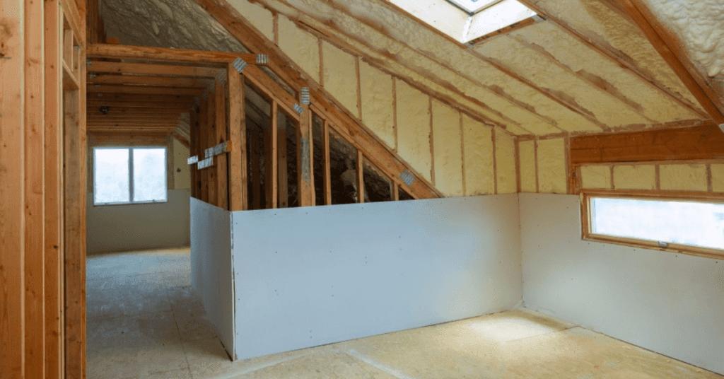 Attic insulation in Longwood